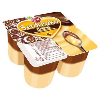 Zott Serduszko Pudding wanilia/czekolada 500 g (4 x 125 g)