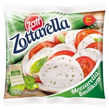 Zott Zottarella Ser Mozzarella bazylia 125 g