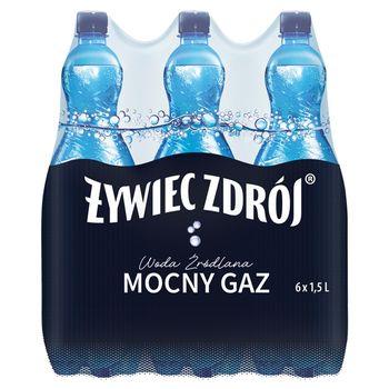 Żywiec Zdrój Mocny Gaz Woda źródlana 6 x 1,5 l