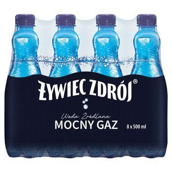 Żywiec Zdrój Mocny Gaz Woda źródlana 8 x 500 ml