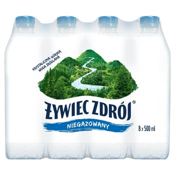 Żywiec Zdrój Niegazowany Woda źródlana 8 x 500 ml